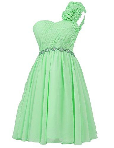 Party Chiffon JAEDEN Dress Pleat Dresses Gown Homecoming Mint One Short Shoulder Bridesmaid S0a7tr0