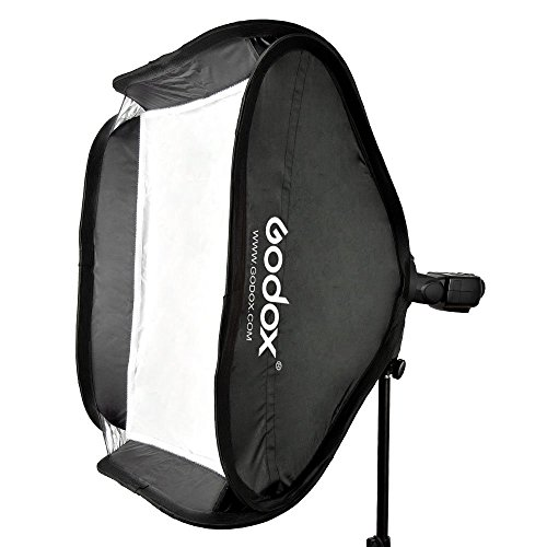Godox 40 * 40cm / 15'' * 15'' Softbox Diffuser with S-type Bracket Bowens Holder for Speedlite Flash Light by Godox