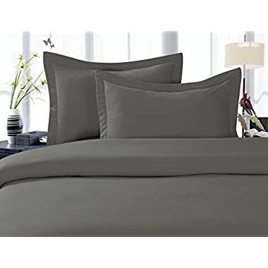 Elegant Comfort 4-Piece 1500 Thread Count Egyptian Quality Hypoallergenic Ultra Soft Wrinkle, Fade, Stain Resistant Bed Sheet Sets with Deep Pockets, King, Gray