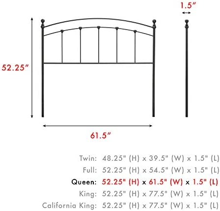 home, kitchen, furniture, bedroom furniture, beds, frames, bases, headboards, footboards,  headboards 1 discount Fashion Bed Group Sanford Headboard, Queen, Matte Black promotion
