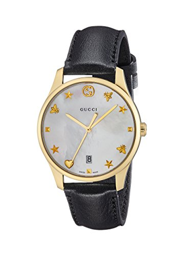 Gucci G-timeless Mother of Pearl Dial Mens Leather Watch YA1264044