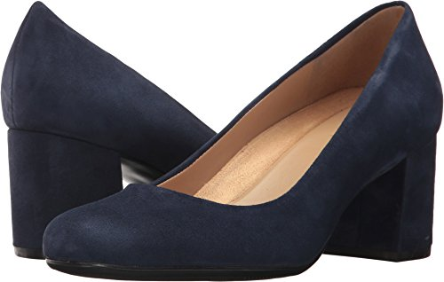 Naturalizer Women's Whitney Ink Navy Suede Pump (Naturalizer Suede Shoes)