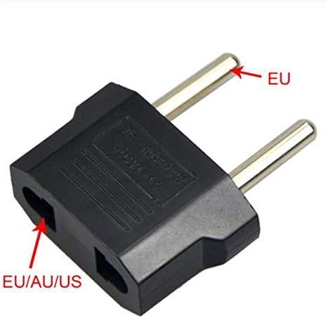 MEICHEN Universal US To EU Plug USA Verso Euro Europa Travel Wall Caricatore CA Presa Convertitore Adattatore 2 Presa Rotonda Ingresso Pin