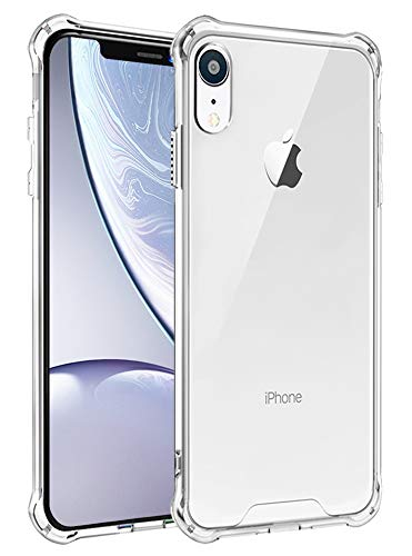 iPhone XR Case,iPhone XR Case Clear,iPhone XR Slim Case,SunRemex Crytal Clear Hard Back and Clear Soft Reinforced Corners Shockproof TPU Rubber Bumper Cover for iPhone XR 6.1