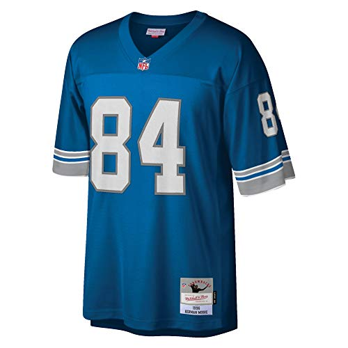 Mitchell & Ness Herman Moore Detroit Lions NFL Throwback Premier Blue Jersey
