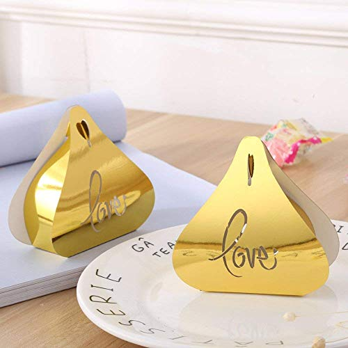 Party Favor Boxes Love 50pcs Gold Candy Chocolate