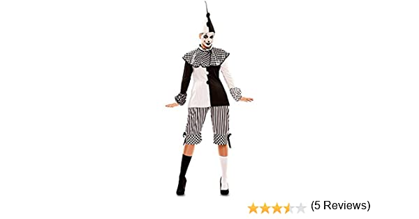 Disfraz de Arlequina Blanca y Negra para mujer: Amazon.es ...