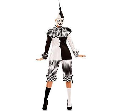 goditi il miglior prezzo vendita limitata cerca autentico Costume da Donna Harlequin Black White Clown Pierrot ...