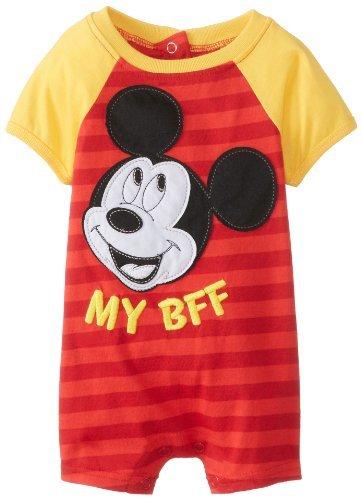 Disney Baby-Boys recién nacidos 1 Pieza Mickey Mouse Romper, Rojo ...