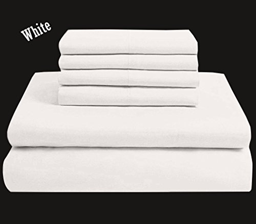 6 Piece Bed Sheets Set Hotel Quality Egyptian Cotton Luxurio