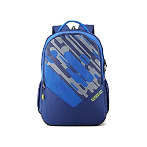American Tourister 29 Ltrs Blue Casual Backpack (AMT Mist SCH BAG01 Blue)(48.5CMs)
