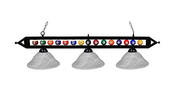 Amazon.com: Ozone Negro Mesa de billar billar bolas de luz ...