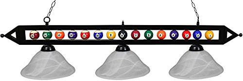 Ozone Black Pool Table Light Billiard Balls