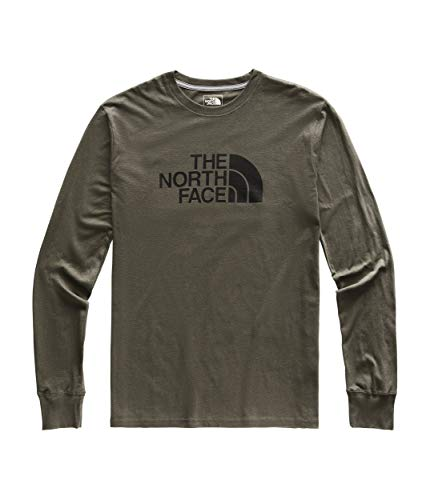 The North Face Men's Long Sleeve Half Dome Tee, New Taupe Green/TNF Black, Size XL ()