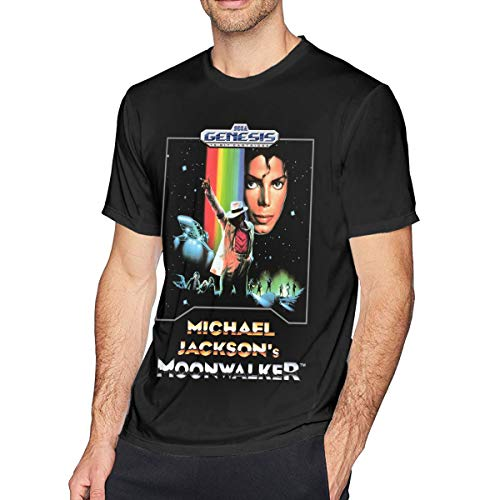 Qeehowey Michael Jackson Moonwalker Men's Classic T-Shirt Black XL