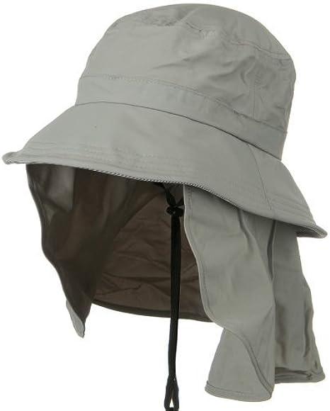 Drawstring Flap Cap Grey MG Mens UV 50