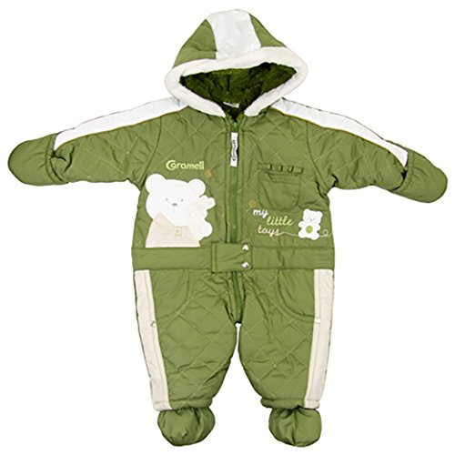 Caramell Cute Baby Bear ONE Piece Eskimo Suit - Quilted (3 Months, -