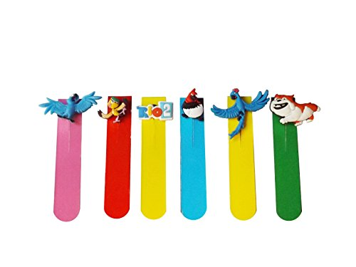 AVIRGO Magnetic Bookmarks Page Markers Colorful 6 pcs Set # 93 -16 (From 2 Rio Jewel)