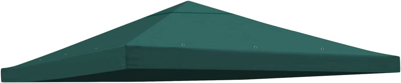 BenefitUSA Replacement Gazebo Canopy Top Patio Pavilion Cover Sunshade Polyester Single Tier, Green