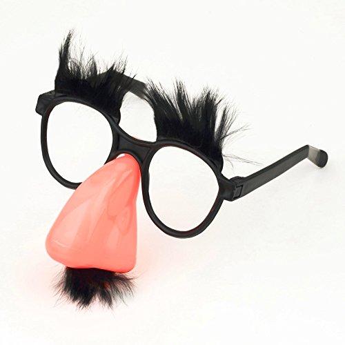 1Pc 2016 New Arrival Eyebrow Clown Fancy Mustache Fake Nose Dress Up Costume Props Fun Party Favor (Artificial Moustache)