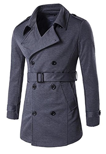 Wool Belt Tie Coat Jacket - 8