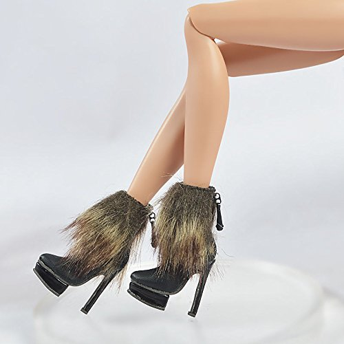 [Doll Shoes High doll shoes for Fashion Royalty Tropicalia Infusion Jem Holograms Monster Doll] (Chucky Costume Shoes)