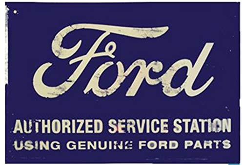 FORD SERVICE STATION SIGN,VINTAGE RUSTIC METAL SHOP GARAGE MAN CAVE SIGNS NEW