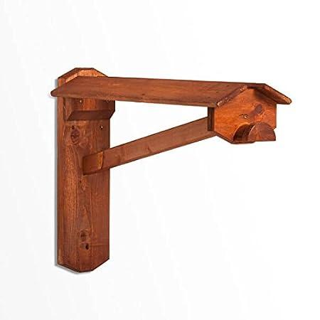 monturero de pared de madera