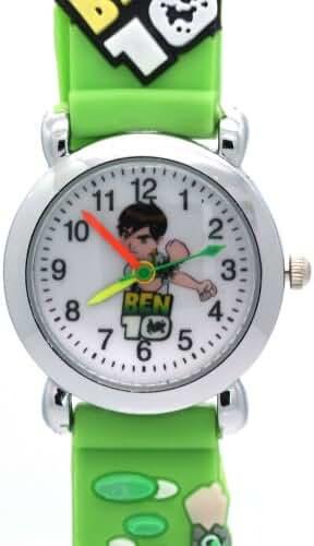 Timernall Original Round Case Cartoon Ben10 Quartz Green Watches