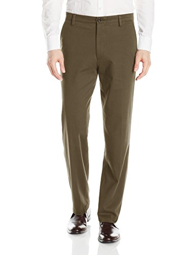 Dockers Men's Classic Fit Easy Khaki Pants D3, Dark Pebble (Stretch), 32 29