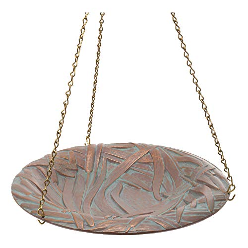 (Whitehall Products Dragonfly Hanging Birdbath, Copper Verdi )