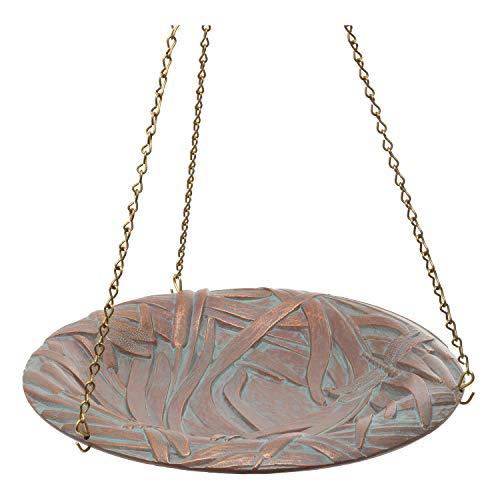 Copper Solar Birdbath Fountain - Whitehall Products Dragonfly Hanging Birdbath, Copper Verdi