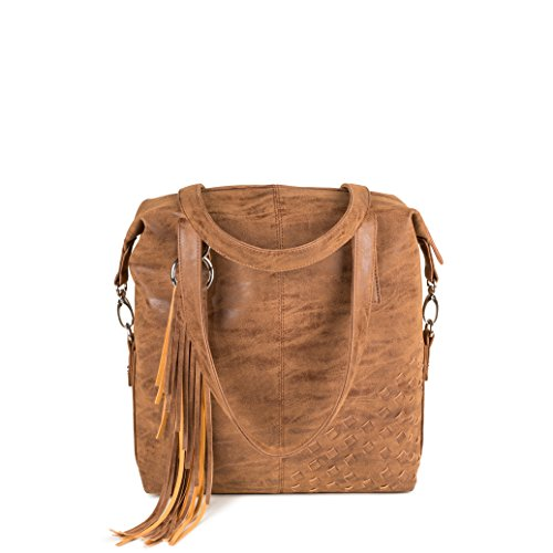 Zwei - Bolso cruzados para mujer marrón marrón claro