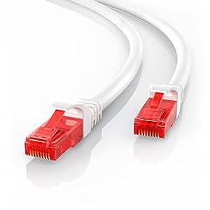 CSL - 5m Cable de red Gigabit Ethernet Lan CAT.6 (RJ45) | 10/100/1000Mbit/s | Cable de conexión a red | UTP | Compatible con CAT.5 / CAT.5e / CAT.7 | Conmutador/router/módem