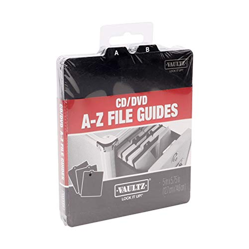 Image of Vaultz A to Z CD and DVD Storage File Guides, 26