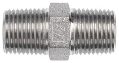3//4-14 x 1//2-14 x NPTF Male Brennan 5404-12-08 Steel Pipe Fitting Hex Nipple