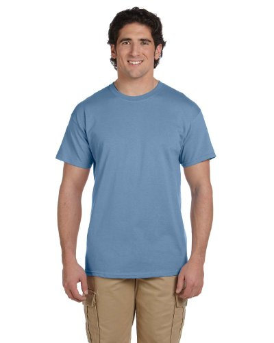 Hanes ComfortBlend Tag-Free Crewneck T-Shirt, Stoashed Blue, Large