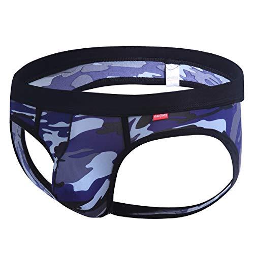40875934390d YOOBNG Backless Mens Camo Underwear Jockstrap Briefs Pouch Thong