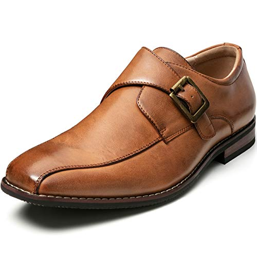 ZRIANG Men's Dress Loafers Formal Leather Lined Slip-on Shoes (8.5 M US, Tan-17)