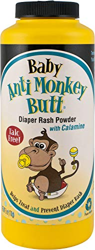 Baby Anti-Monkey Butt | Diaper Rash Powder with Calamine | Soothes Delicate Skin | Talc Free | 6 oz.