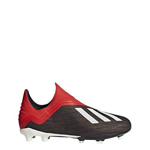 adidas JR X 18+ FG-Black/Red 5.5