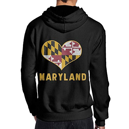 JHDKDGH-N Maryland State Flag Back Print Long Sleeve Sweater ()