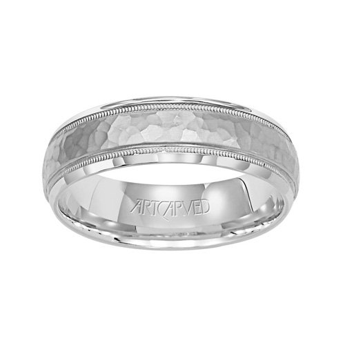 Artcarved Palladium - 11-WV7267PD_G Parrish Carved Palladium Mens Wedding Band from ArtCarved