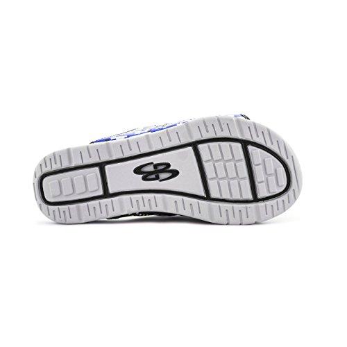 Boombah Herren Tyrant Digital Camo Slide Sandalen - 11 Farboptionen - mehrere Größen Schwarz / Royal
