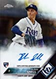 #2: 2016 Topps Chrome #RA-BS Blake Snell Certified Autograph Baseball Rookie Card