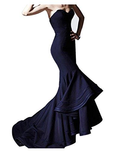 jydress Mujer Satén de vestidos de fiesta de corazones de sirena y albornoz de fiesta formal 2016para novia turquesa