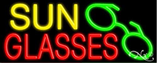 13x32x3 inches Sun Glasses NEON Advertising Window - Advertising Sunglasses