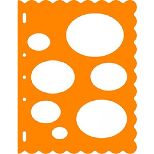 Fiskars 8.5x11 Inch Sheet Ovals Shape (Oval Shape Template)