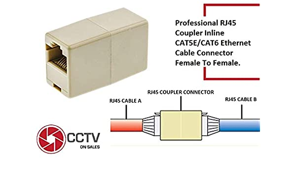 [FPER_4992]  Amazon.com: RJ45 Coupler, Ethernet Coupler, Ethernet Cable Extender Adapter  for Cat7/Cat6/Cat5e, Female to Female Straight Modular Inline Coupler (RJ45  Coupler 40 PCS): Home Audio & Theater | Wiring Diagram Rj45 Coupler |  | Amazon.com
