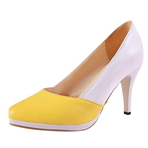 MissSaSa Damen bequem Plateau Pointed Toe assorted colors Pumps high-heel Spitze Kleid/Büroschuhe Gelb